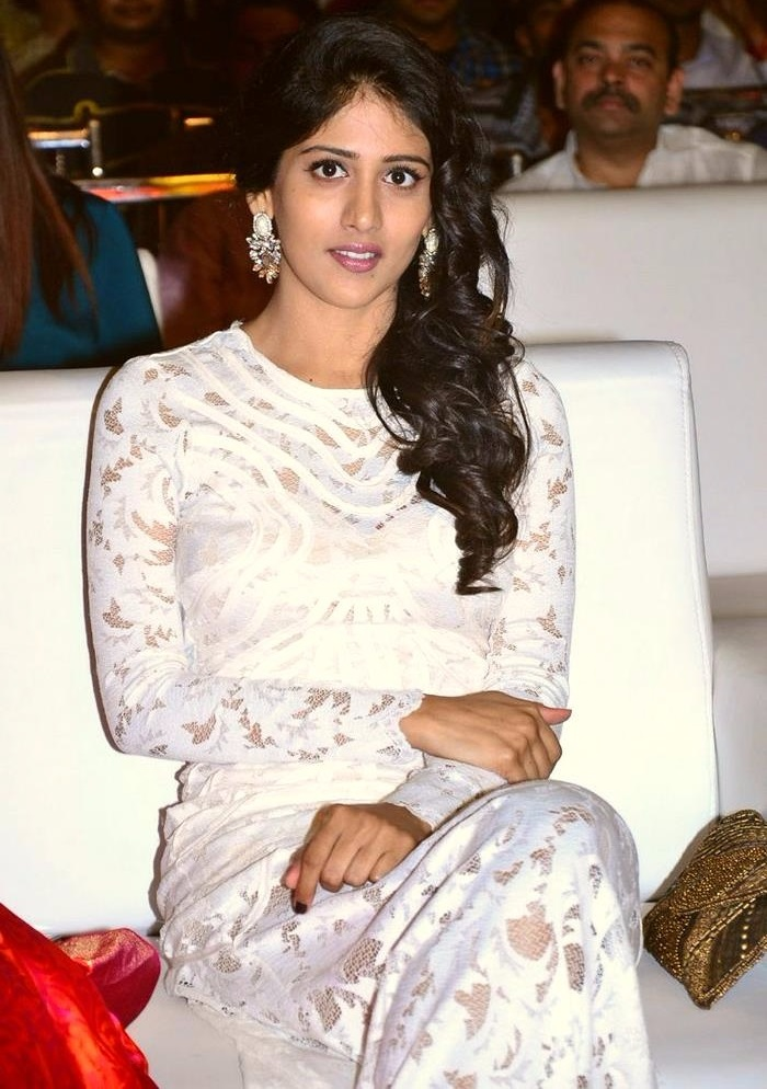 Chandini chowdary white dress wide image