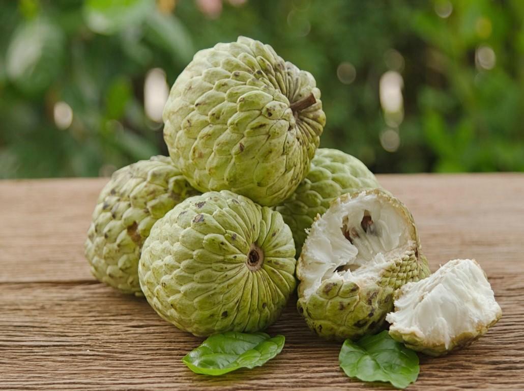Custard apple open fruit photos
