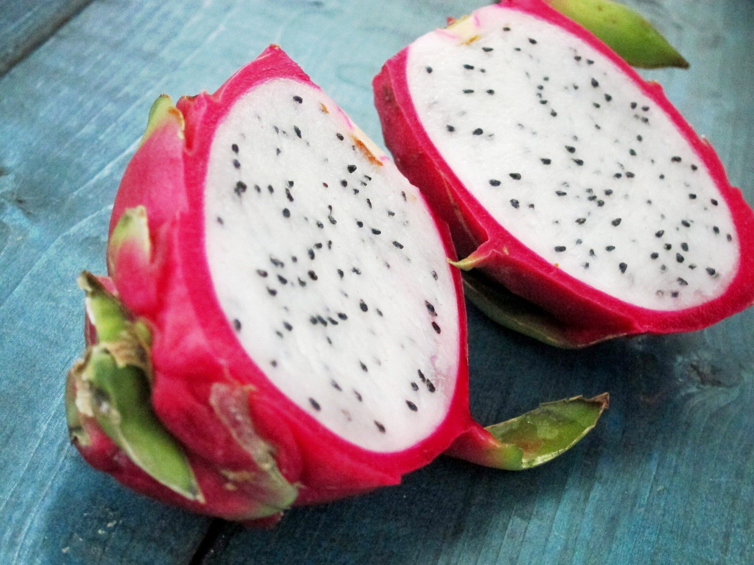 Dragon fruits opened photos