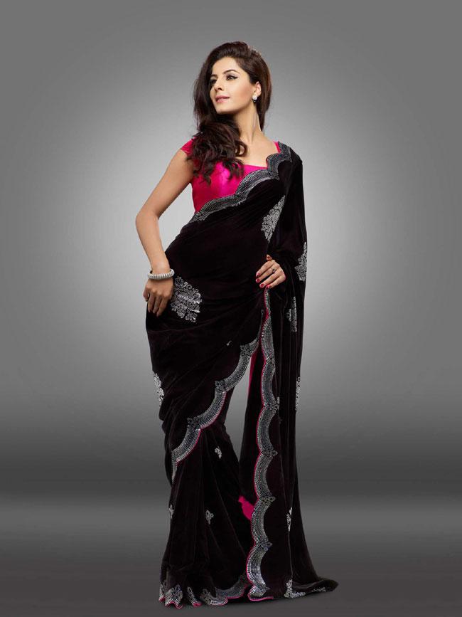 Isha talwar black saree images