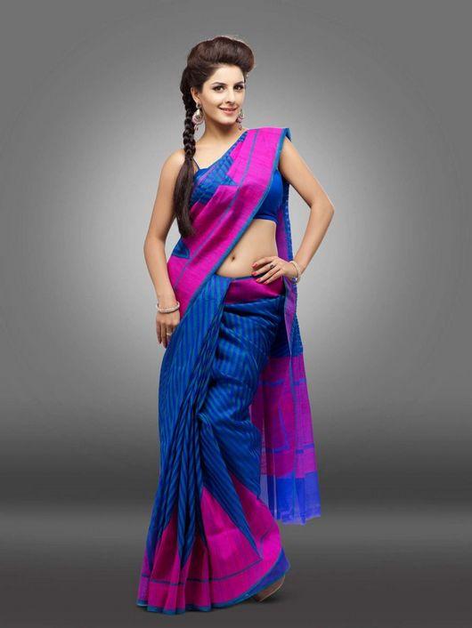 Isha talwar blue saree pictures