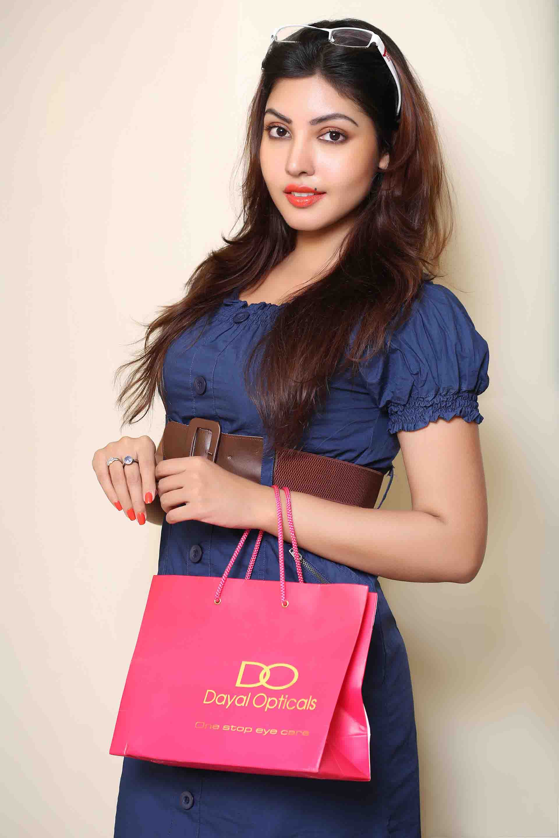 Komal jha blue dress images