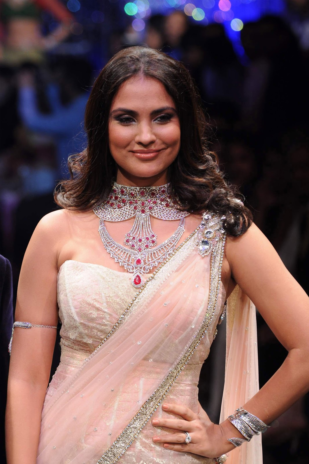 Lara dutta saree in function photos