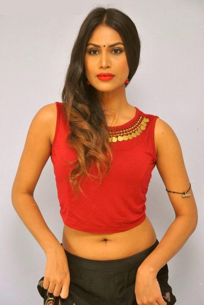 Nishigandha red dress photoshoot wallpaper