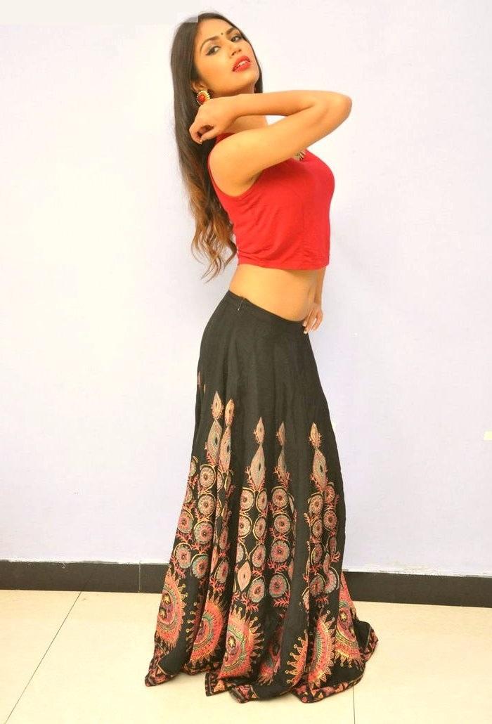 Nishigandha red dress wide stills