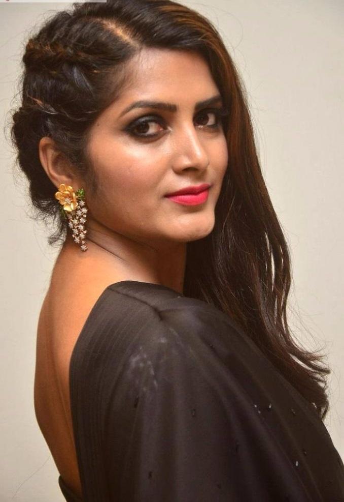 Pavani gangireddy black dress journal stills