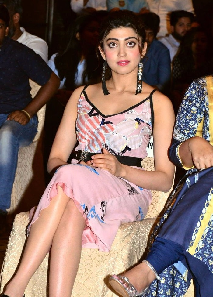 Pranitha subhash pink dress press meet photos