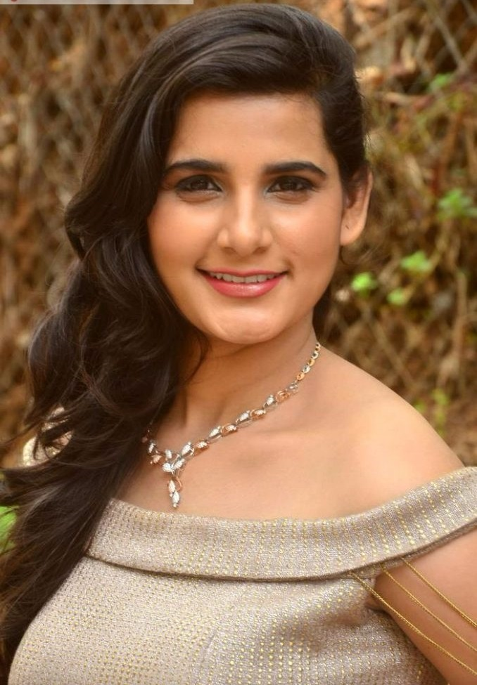 Pravallika actress light brown color dress filmfare image