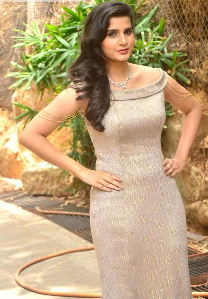 Pravallika actress light brown color dress press meet fotos