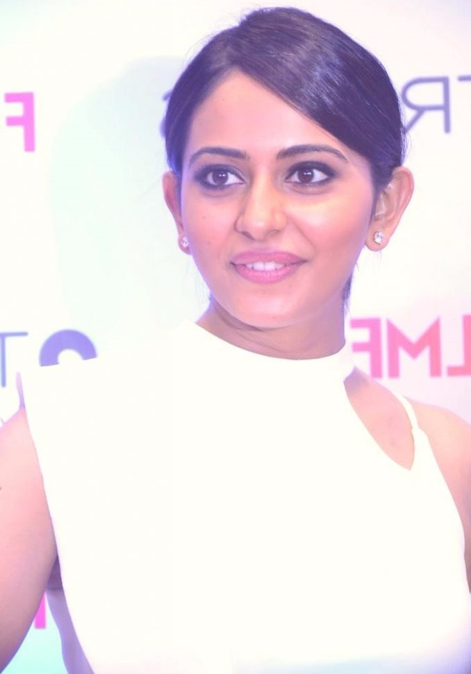 Rakul preet singh white dress exclusive photos