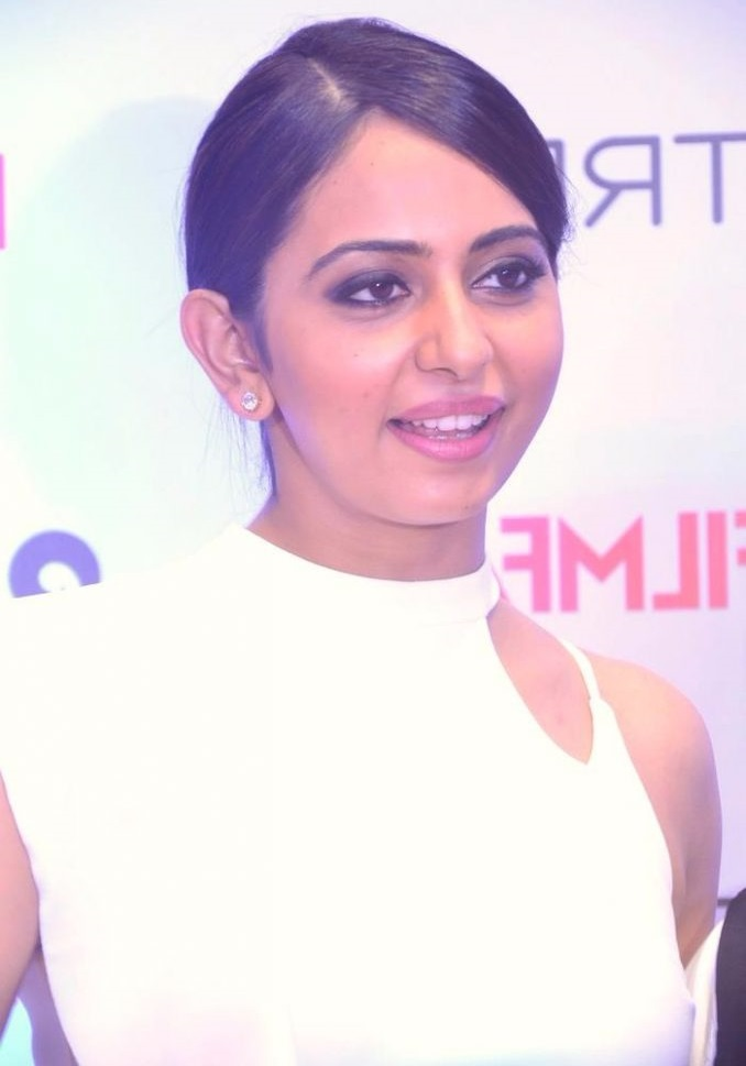 Rakul preet singh white dress photoshoot image