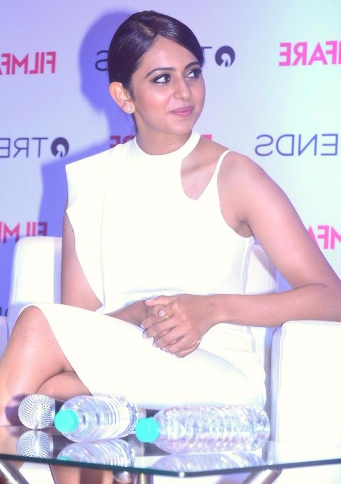 Rakul preet singh white dress wide stills