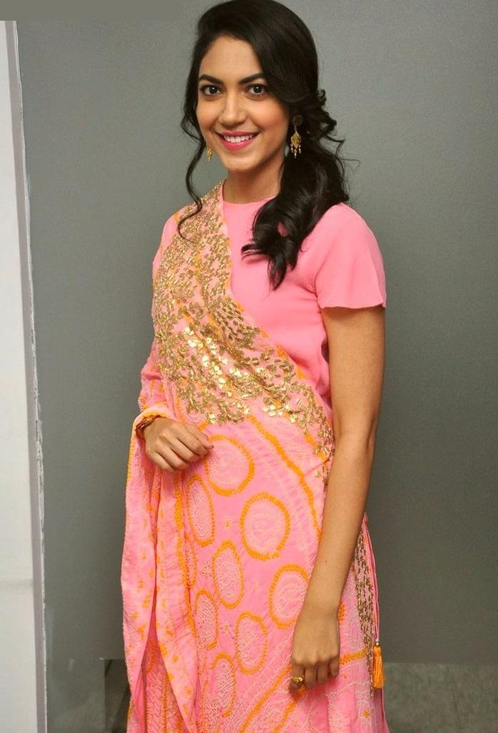 Ritu varma pink dress cute image