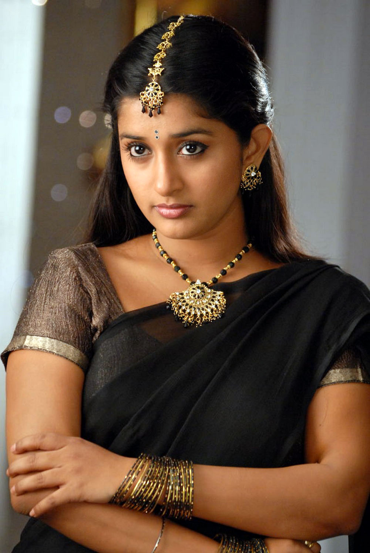 Meera jasmine black saree wallpapers