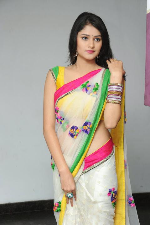 Actress kushi beautiful saree pictures