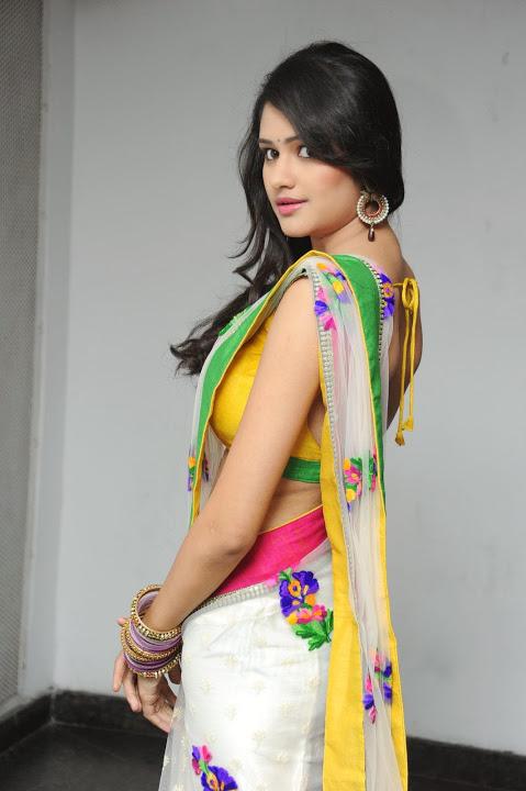 Actress kushi figure saree image