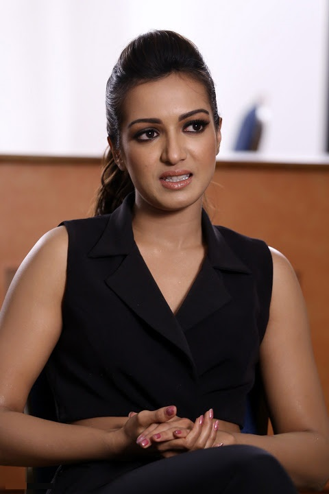 Catherine tresa interview black dress hd pics