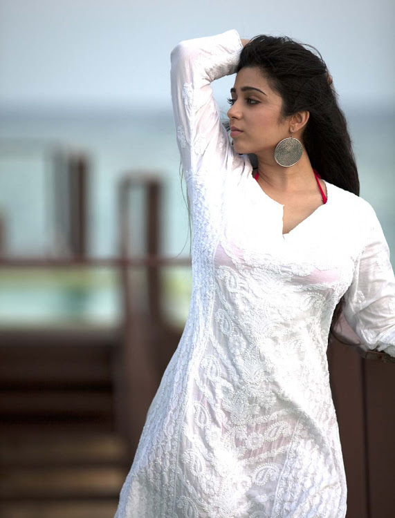 Charmi kaur white dress figure image pics