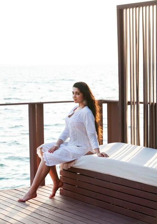 Charmi kaur white dress modeling stills