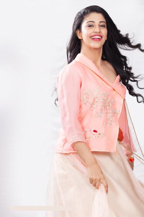 Daksha nagarkar pink dress glamour image