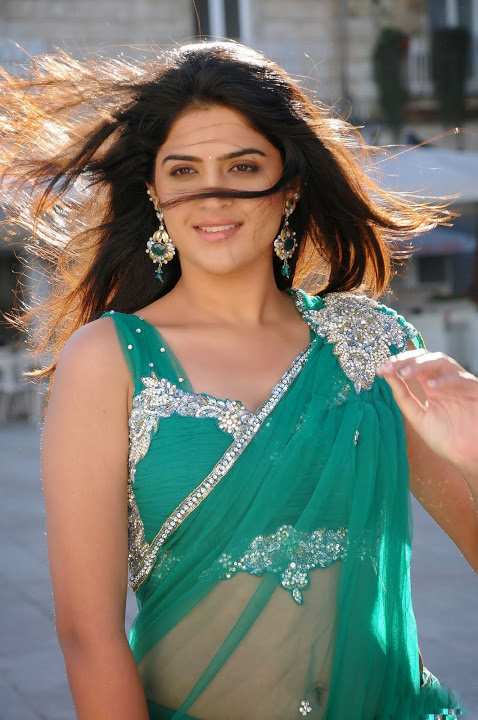Deeksha seth green half saree beautiful pictures