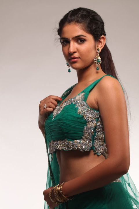 Deeksha seth green half saree photoshoot gallery