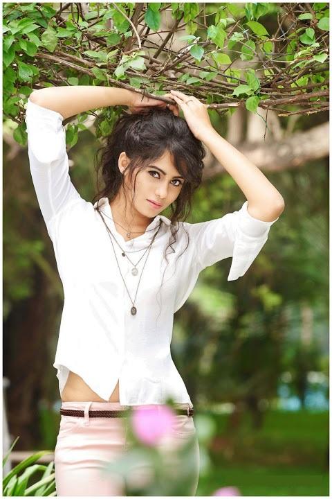 Deepa sannidhi white dress hot photos