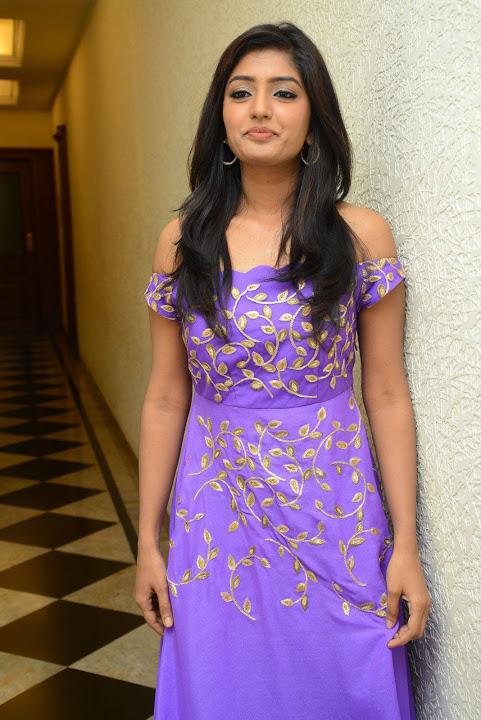 Eesha rebba purple dress exclusive interview fotos