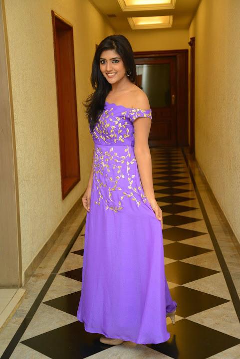 Eesha rebba purple dress exclusive movie promotion gallery