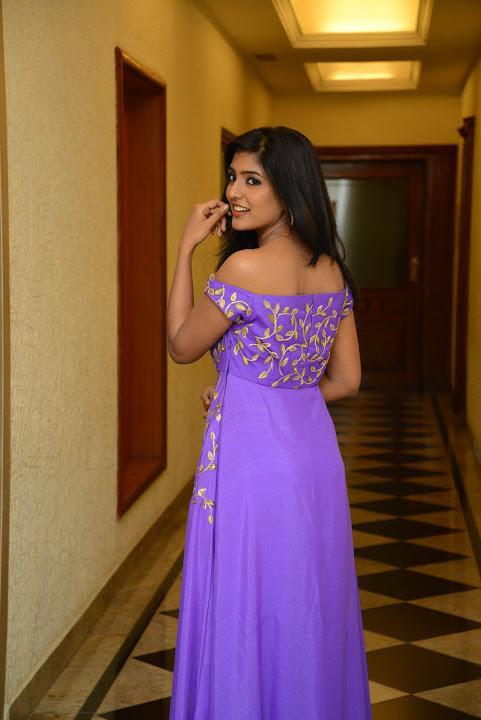 Eesha rebba purple dress exclusive press meet slide show