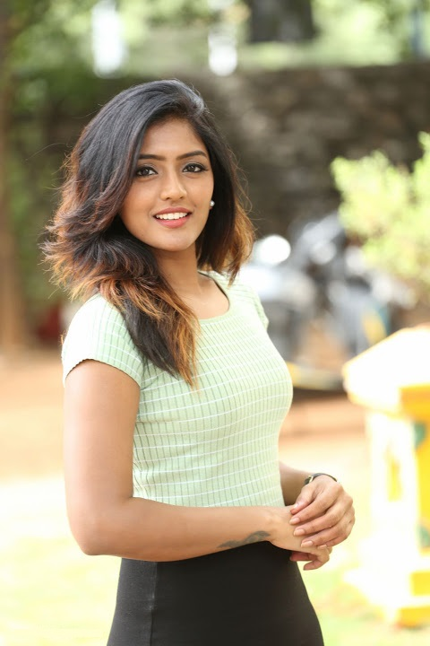 Eesha reeba light green dress interview pics