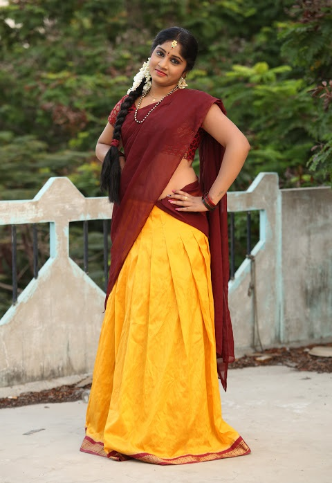 Gagana half saree beautiful pictures