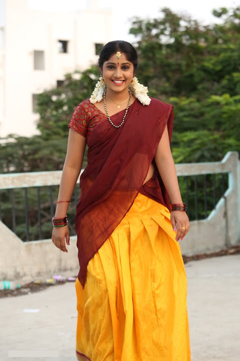 Gagana half saree cute photos
