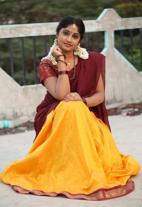Gagana half saree exclusive image