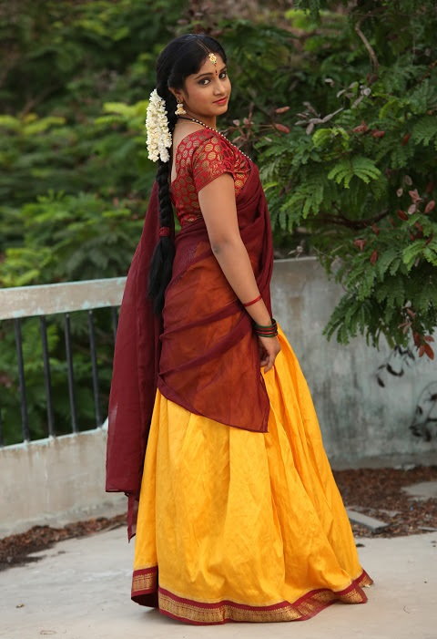 Gagana half saree figure stills