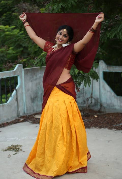 Gagana half saree smile pose gallery