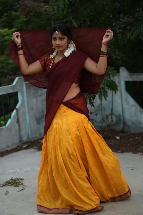 Gagana half saree wide photos