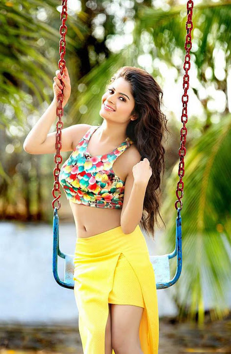 Gehana vashisht yellow dress photoshoot gallery