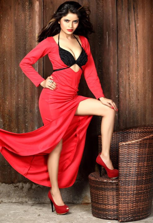 Gehana vasisth red dress photoshoot photos