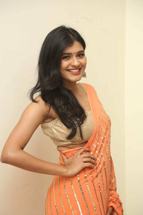 Hebah patel orange dress fashion wallpaper