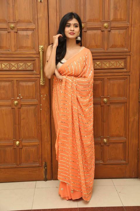 Hebah patel orange dress glamorous stills