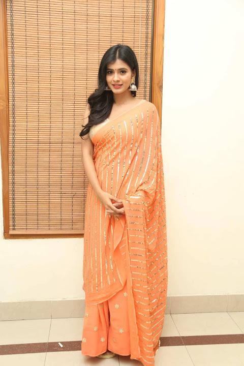 Hebah patel orange dress glamour wallpaper
