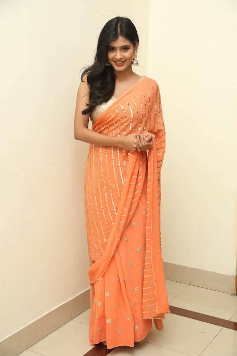 Hebah patel orange dress interview pics