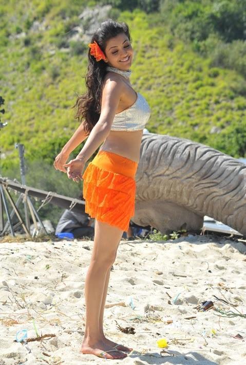 Kajal agarwal beach song photos businessman movie