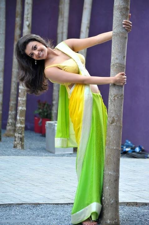 Kajal agarwal green saree hot pictures