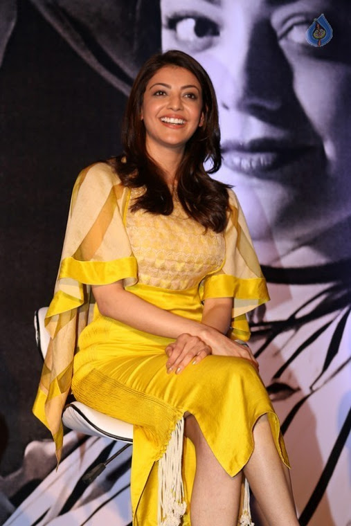 Kajal agarwal yellow dress unseen glamorous stills
