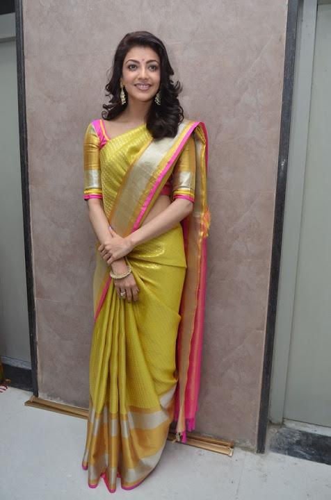 Kajal agarwal yellow saree computer pictures