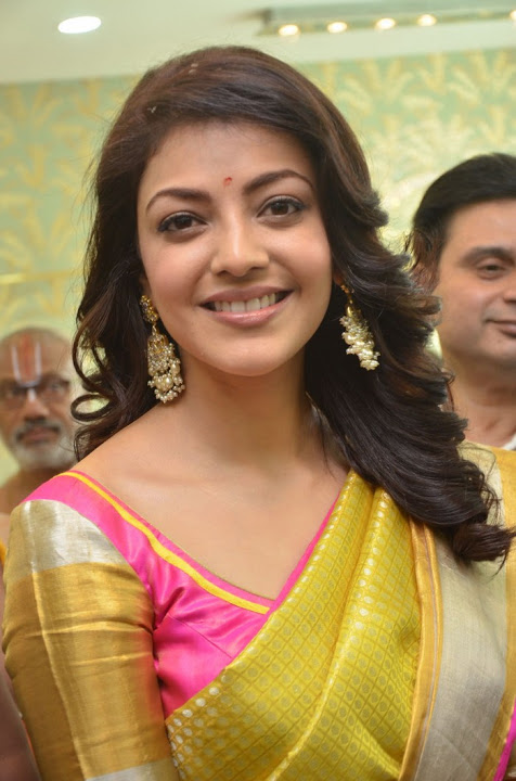 Kajal agarwal yellow saree exclusive modeling stills