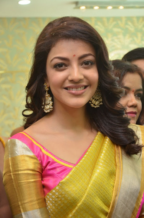 Kajal agarwal yellow saree movie promotion hd hot gallery
