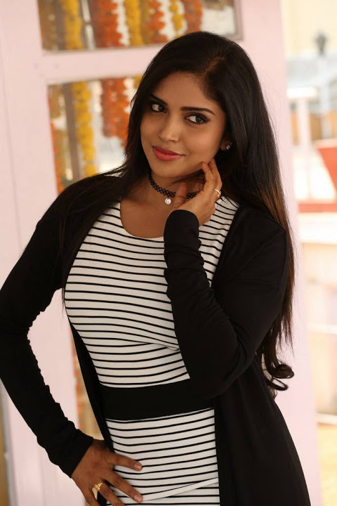 Karunya chowdary black and white dress figure pics